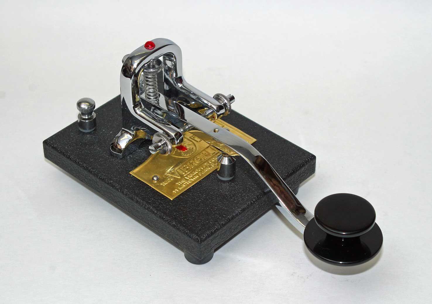 Vibroplex Key Deluxe | CW Keys | Morse code, Ham radio, Key