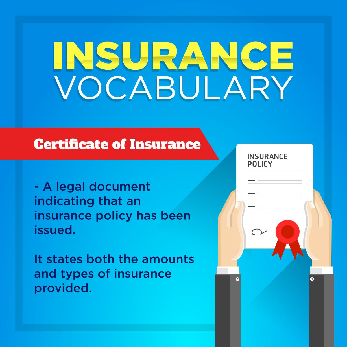 Insurance Vocabulary Insurance Kotteninsurance Vocabulary