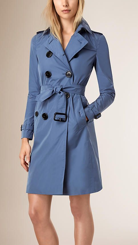 d43f190bfc3a Dusty thistle blue Lightweight Showerproof Trench Coat - Burberry