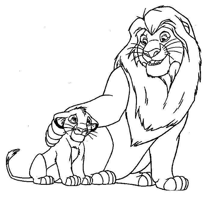 Mufasa And Simba | Lion King Coloring Pages | Pinterest