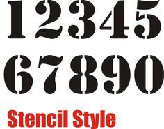 football number stencils printable