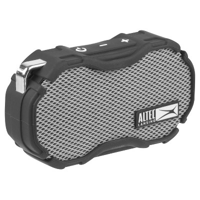 Altec Mini H2o Bluetooth Waterproof Speaker Grey Black Altec