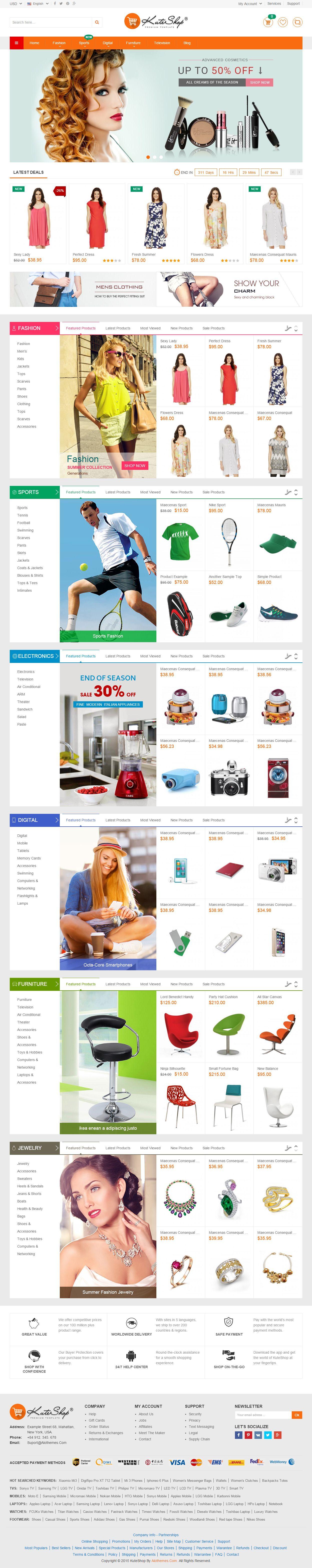 KuteShop - Premium Responsive Multipurpose Magento Theme | UI | Web