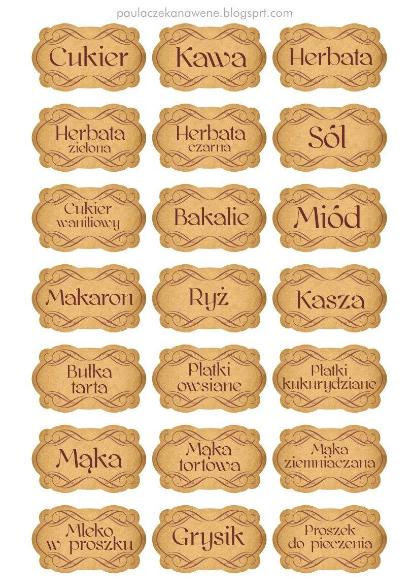 Kuchenne Etykiety 2 Jpg 814 1157 With Images Herbalism