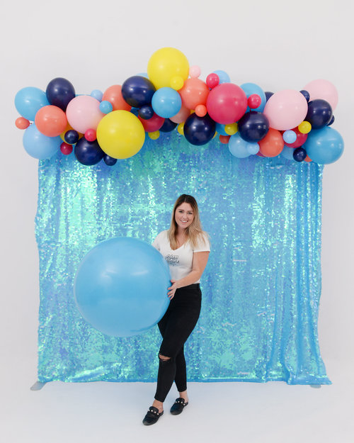 "Here's that same ""Sprinkle City"" 6' DIY balloon garland"