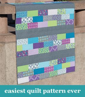 Easiest quilt pattern ever Here's one for you Jo for your strips ... : beginning quilt patterns - Adamdwight.com