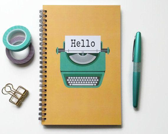 Writing journal, spiral notebook, bullet journal, cute notebook - blank line paper