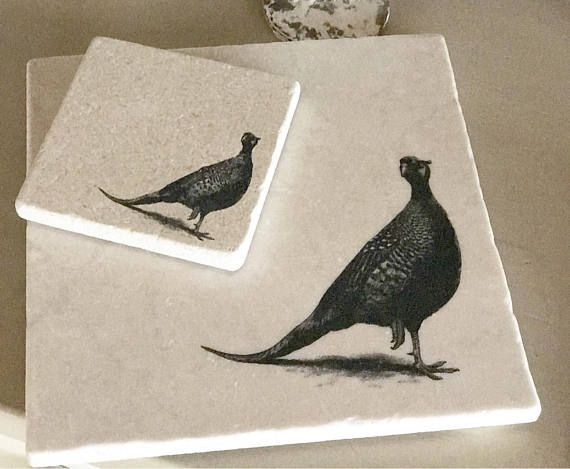 PHEASANT natural stone platter/coaster tableware various & PHEASANT natural stone platter/coaster tableware various | ENCORE ...