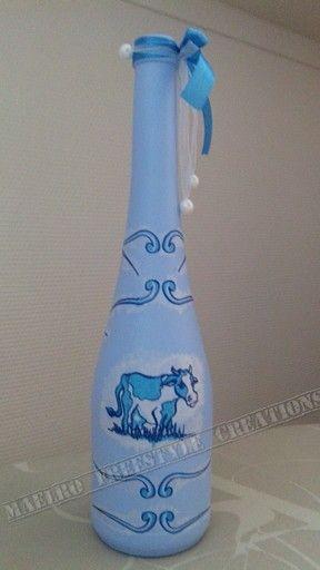 Fles blauw holland
