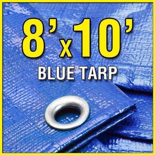8 X 10 Blue Multi Purpose 6 Mil Waterproof Poly Tarp Cover 8x10 Tent Shelter Camping Tarpaulin By Grizzly Tarps 8 73 Tarp Shade Tarpaulin Tarps
