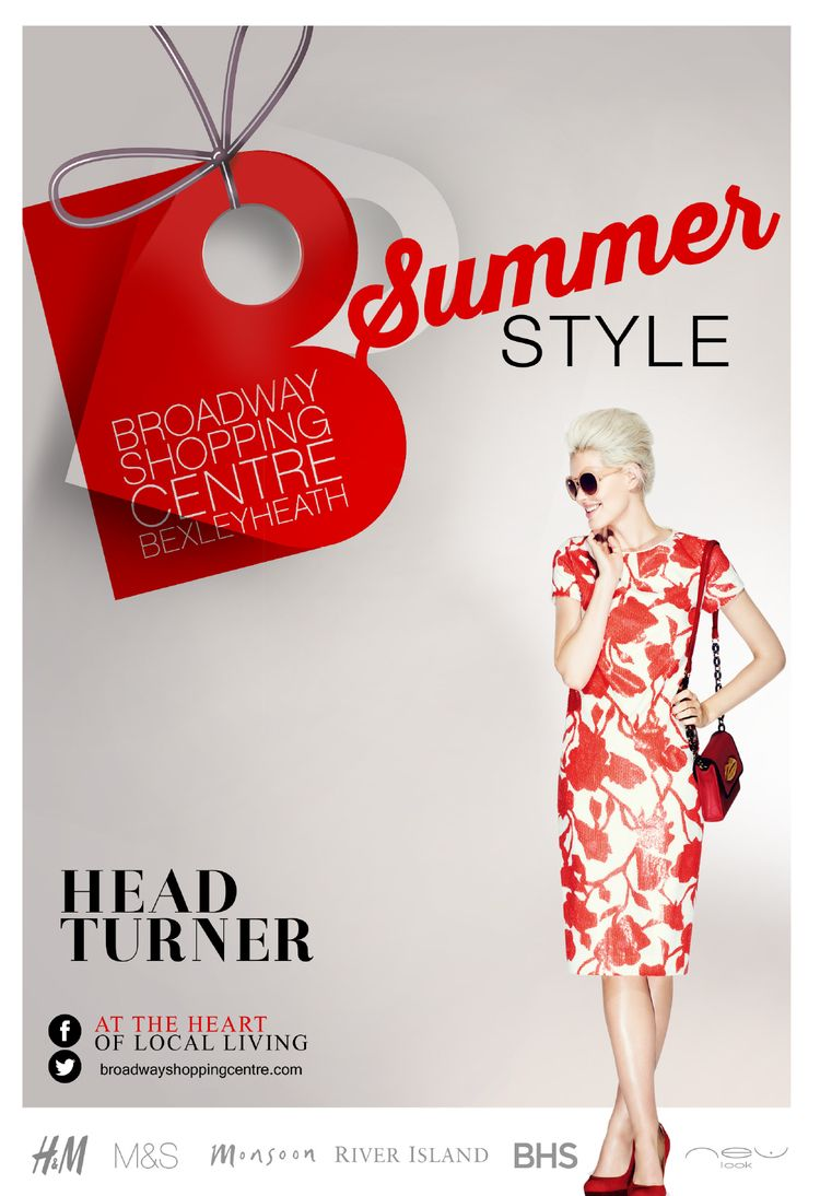 Poster design uk - Summer Fashion Poster For Broadway Shopping Centre By Www Retailcentred Co Uk