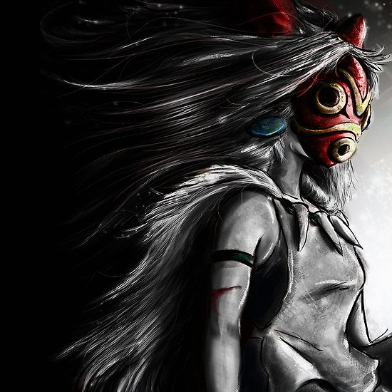 Fury of the Princess Anime Digital Painting Canvas Print