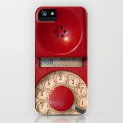 Old fashioned red rotary phone Hotline Galaxy S5 Case by Bomobob - $35.00. Available on iPhone devices also. Check out the artist's link.