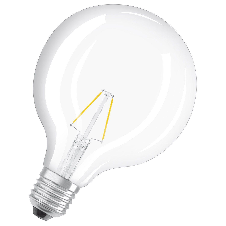 Ampoule Led A Filament Depoli Globe 125 Mm E27 806 Lm 60 W Blanc