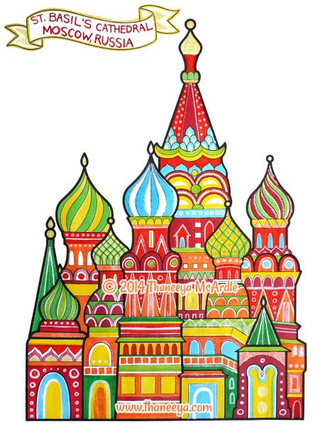 saint basils cathedral coloring pages - photo#21