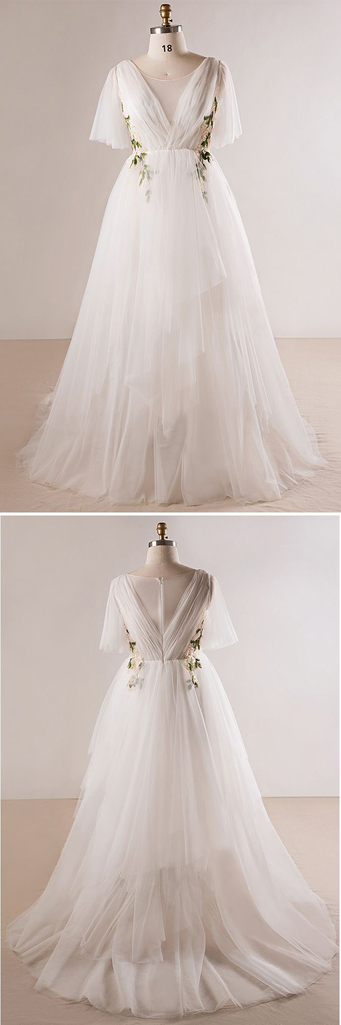 Only plus size wedding dresses plus size flowing long tulle