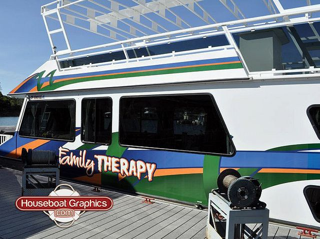 Houseboatgraphicsfamilytherapydesignboatnamedecal Graphics - Houseboats vinyl decals