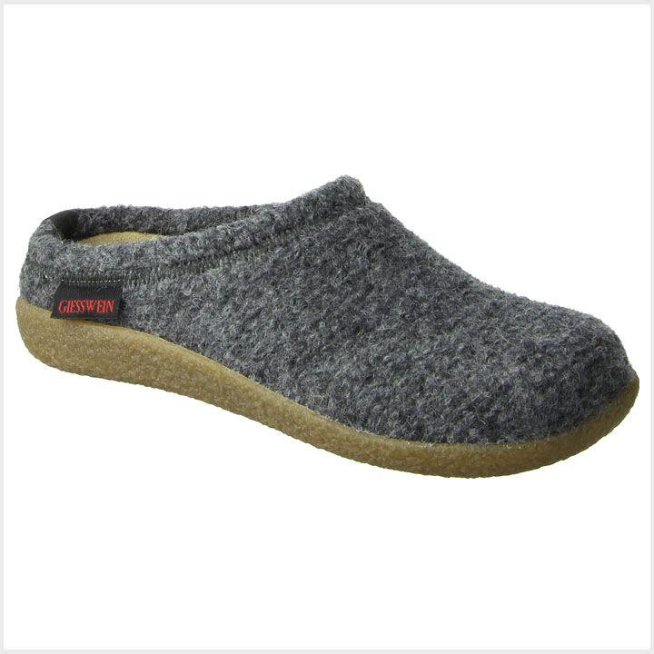Giesswein Unisex Wool Slippers Veitsch Grey