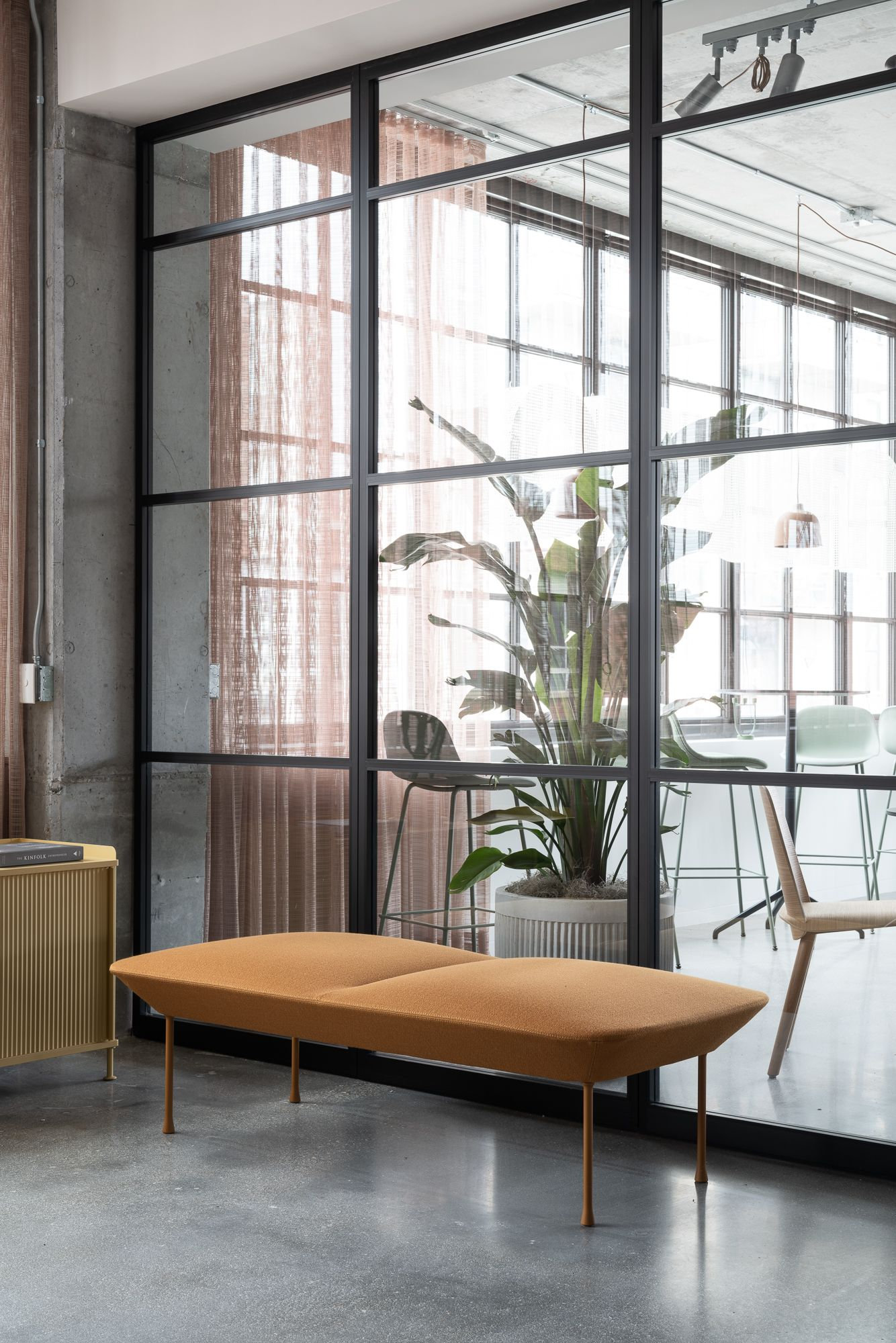 Scandinavian Interior Inspiration From Muuto The Oslo Sofa Family Unites Geometric Line Scandinavian Furniture Design Office Space Decor Furniture Inspiration