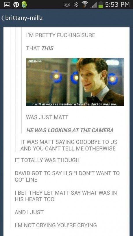 I'm looking forward to Capaldi but I'm gonna miss Matt Smith :'(