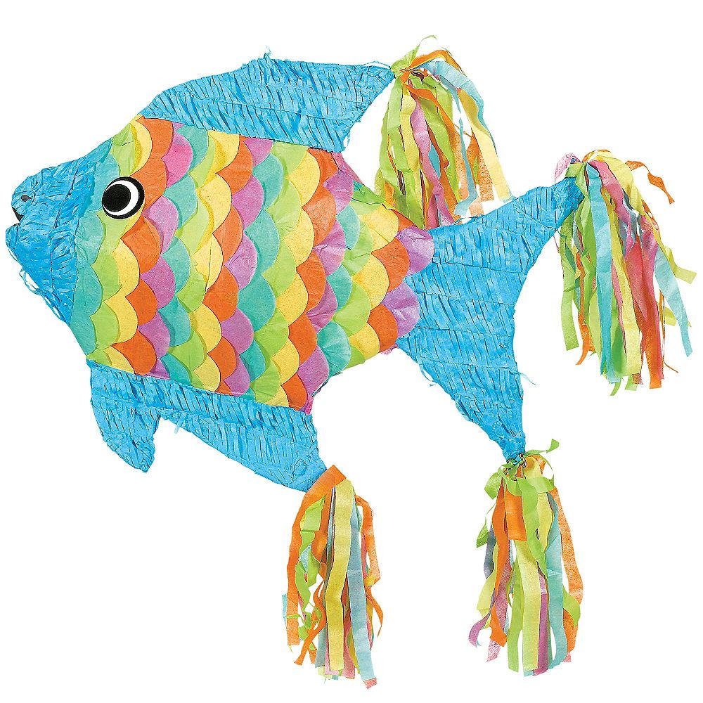 Tropical Fish Pinata 12in x 21 3/4in in 2019 | Birthday