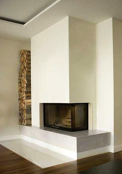 Moderner Kamin, Kamin Modern, Wohnzimmer Kamin, Kaminofen, Eckkamine,  Moderne Kamine, Inneneinrichtung, Haus Innenräume, Innenarchitektur