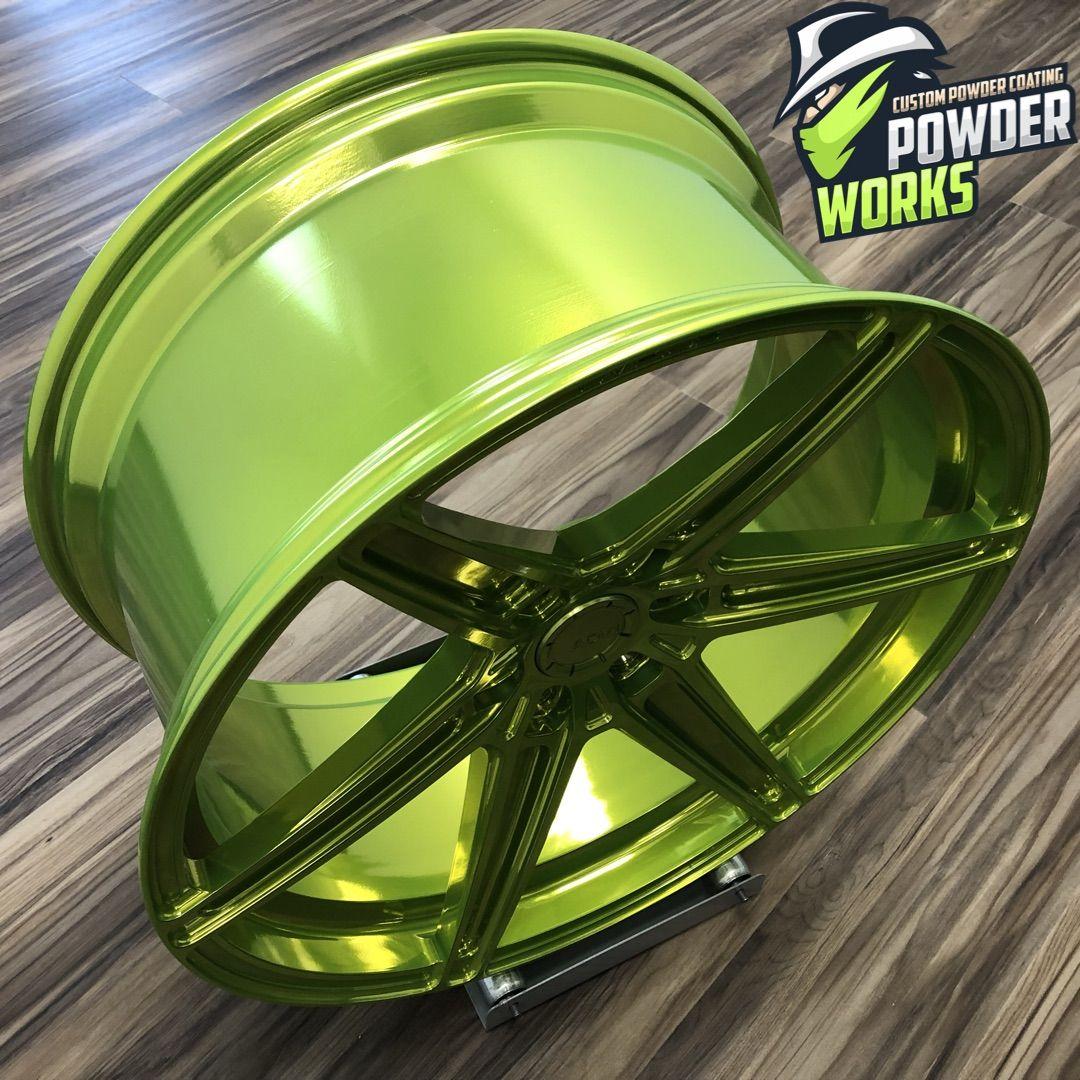 Shocker Yellow / Super Chrome Powder Coating Custom