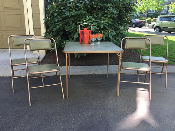 Vintage Card Table Chairs Samsonite Folding Table And Card Table And Chairs Chair Table And Chairs