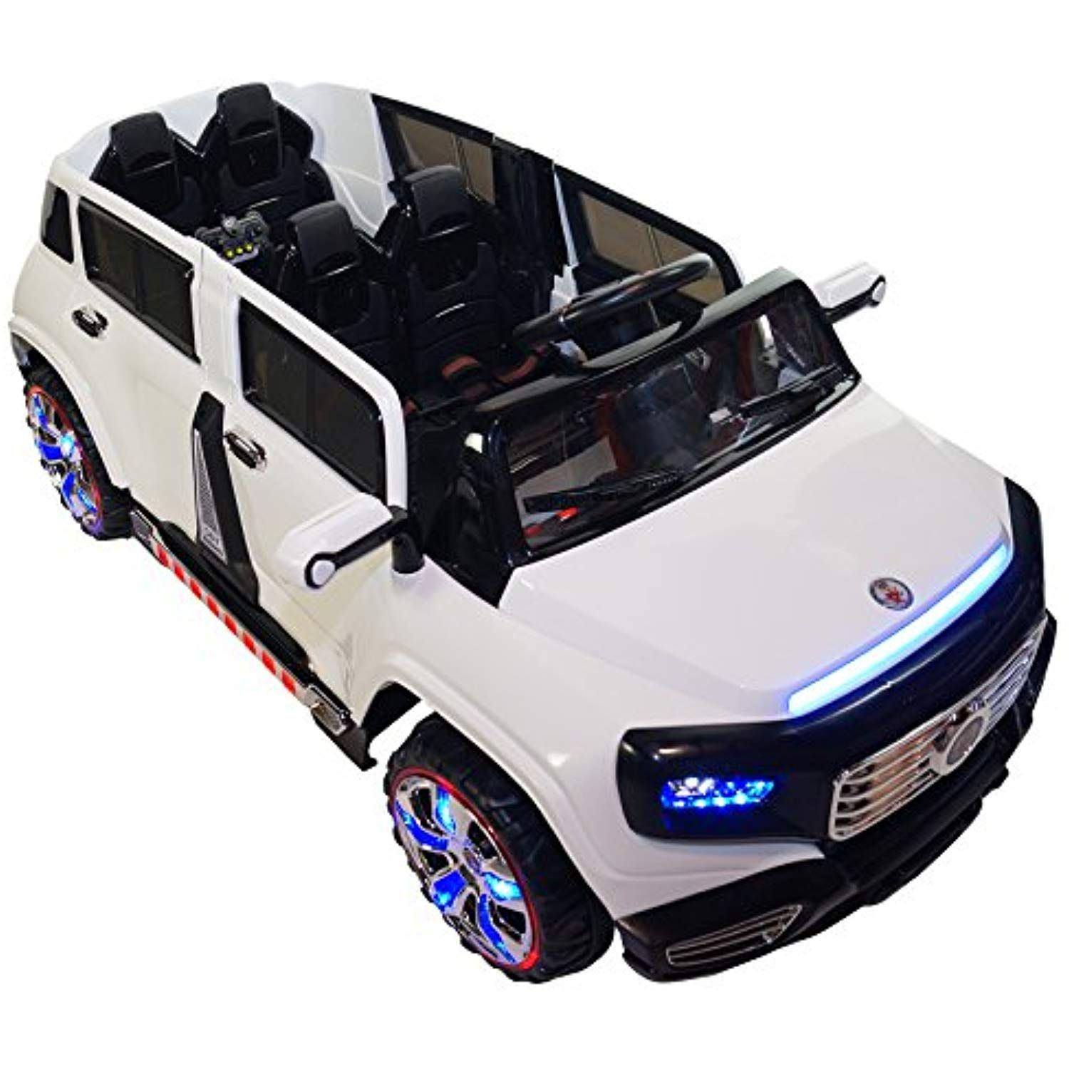 Two Seater 4 Door Premium Ride On Electric Toy Car For Kids 12v Battery Powered Led Lights Mp3 Rc Parental Toy Cars For Kids Kids Ride On Toys Toy Car