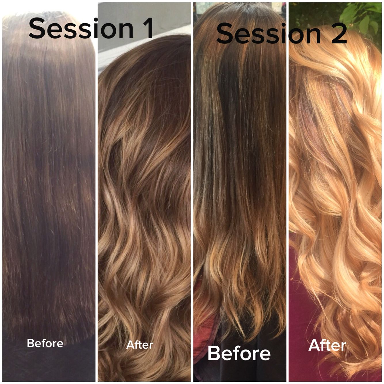 Going From Brown To Blonde Slowly And In Stages With Balayage Technique By Tayler Namanny Brown To Blonde Brunette To Blonde Hair
