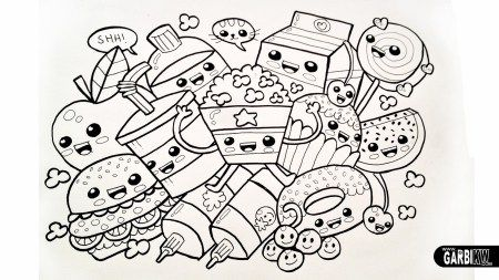 Cute Kawaii Food Coloring Pages Cute Coloring Pages Cartoon Coloring Pages Food Coloring Pages
