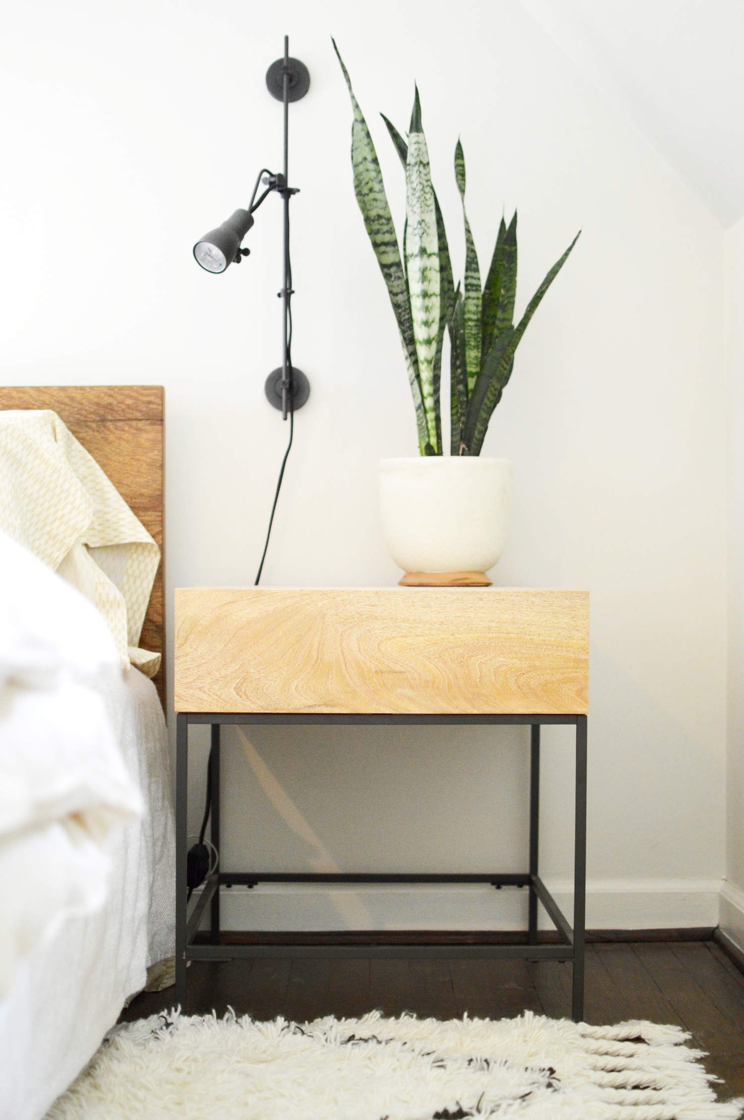 West Elm Industrial Storage Side Table Copycatchic Living Room