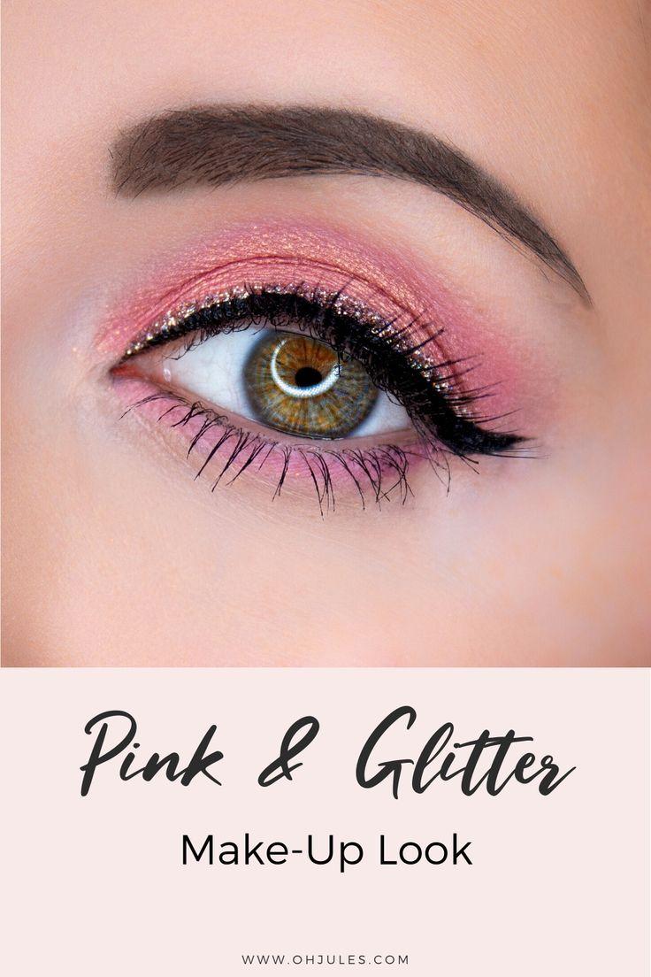 Glitter Make-Up in Pink: Kreativer Lidschatten-Look für