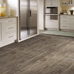 Laminate Flooring That Looks Like Wood the weathered gray next to the light  cabinets! |