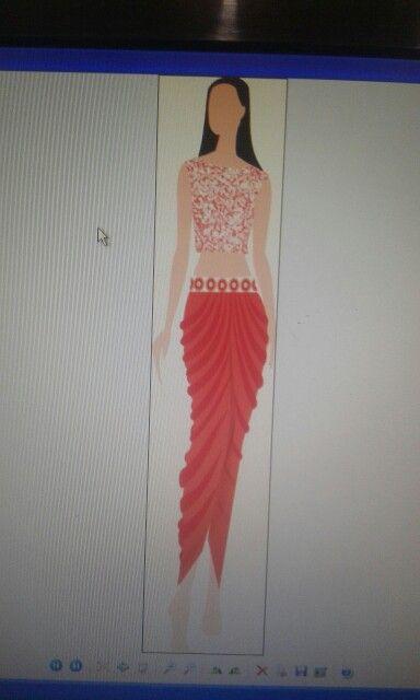 Fushion Dresses In Corel Draw Dresses Fashion Fashion Design