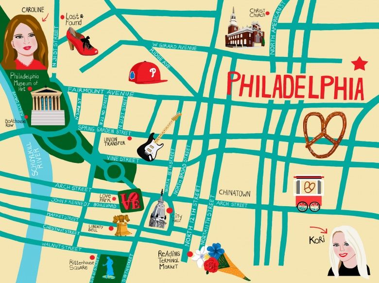 Like a Local: Caroline Palmer and Kori Dyer Map Their Shared Hometown, Philadelphia - Vogue Daily - Fashion and Beauty News and Features