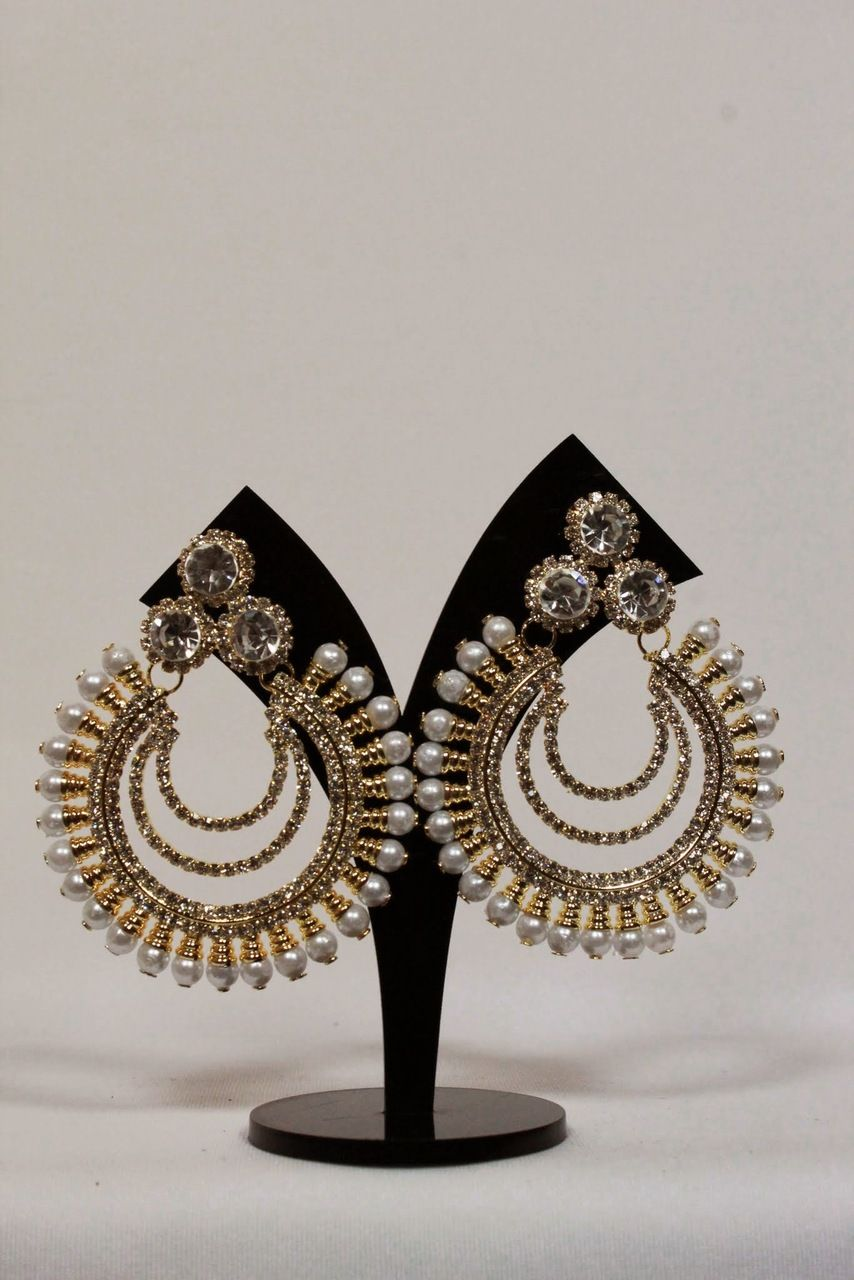 Gold Chandbali Earrings Online Google Search