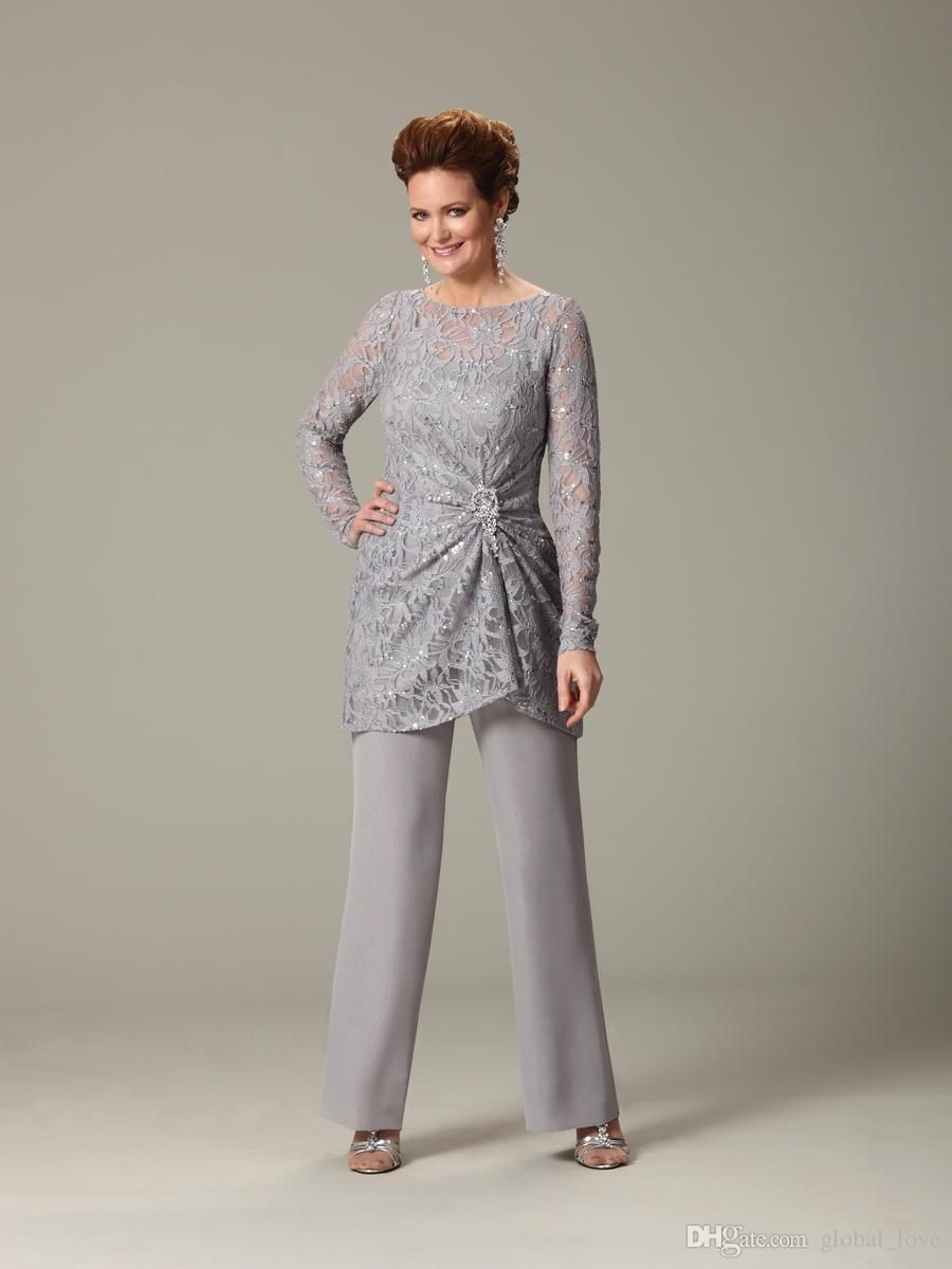 8053fbaac7b Sparkle Sequins Mother Of The Bride Pant Suits Plus Size Long ...