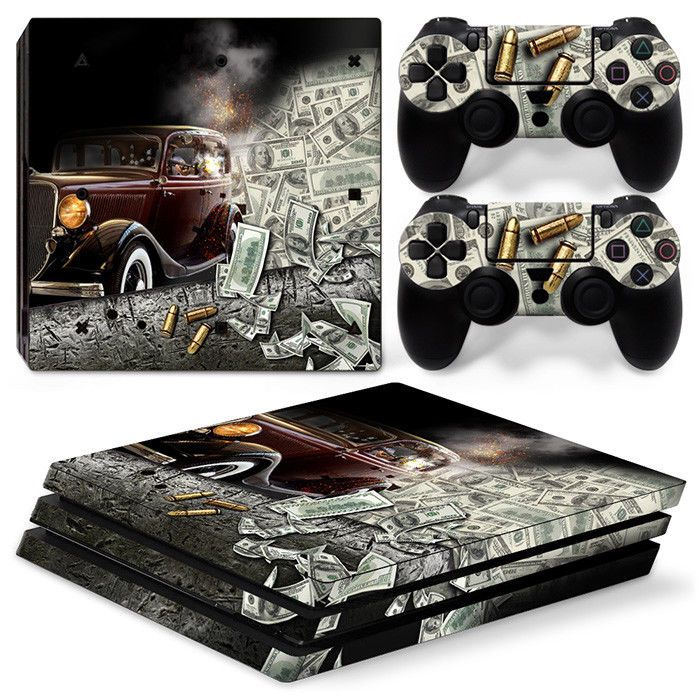 Sony PS4 Console Skin Kit - Wooden Gaming System - Retro