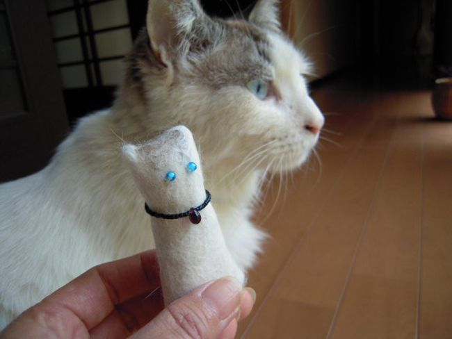 If your kitty sheds hair like nobody's business and coughs out fur balls even as we speak, you may want to take up kitty crafting. And by that, we mean recycling kitty's fur into a toy for itself! Called needle felting, it involves stabbing a barbed needle repeatedly into some fleece so as to mold […]