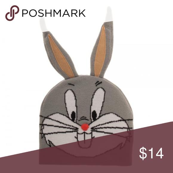 Looney Tunes Bugs Bunny 3d Ears Beanie Hat New Looney Tunes Bugs Bunny Bunny Face Beanie Hats