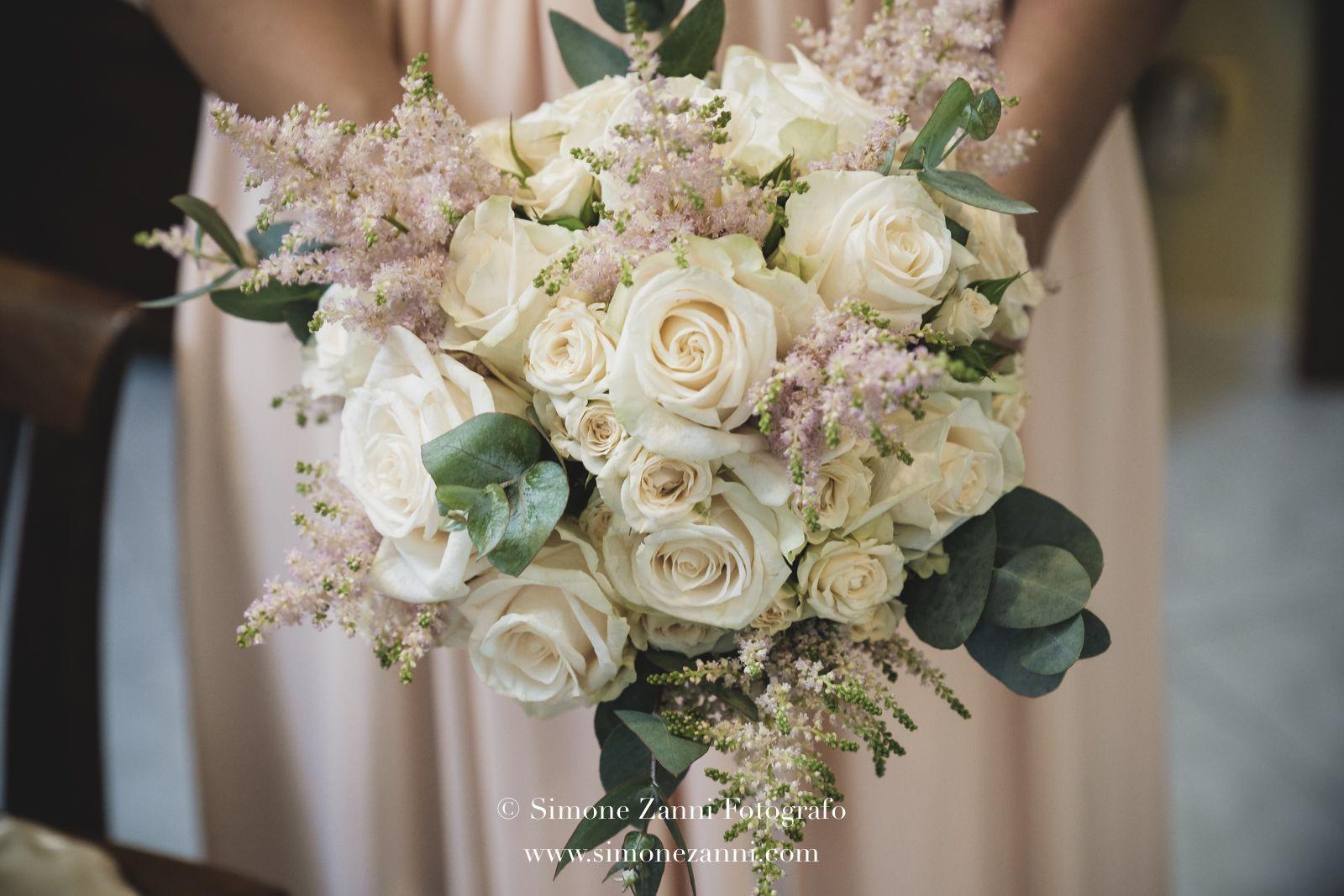 Bouquet Rose Sposa.Bouquet Sposa Rose Vendela Roselline Ramificate Astilbe Rosa Ed