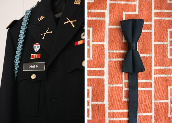 All the details of the groom in uniform.   See more of this winter #wedding here: http://www.mywedding.com/articles/doug-and-mollys-st-louis-missouri-military-wedding-by-ashley-fisher-photography/