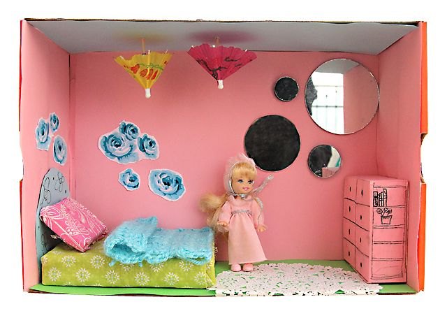 Found On Cath Kidston S Fb Page In Her Dream Room In A: Shoe Box Dolls House