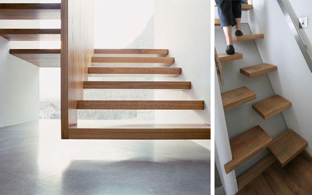 Decoraci n de escaleras voladas for Decoracion de escaleras