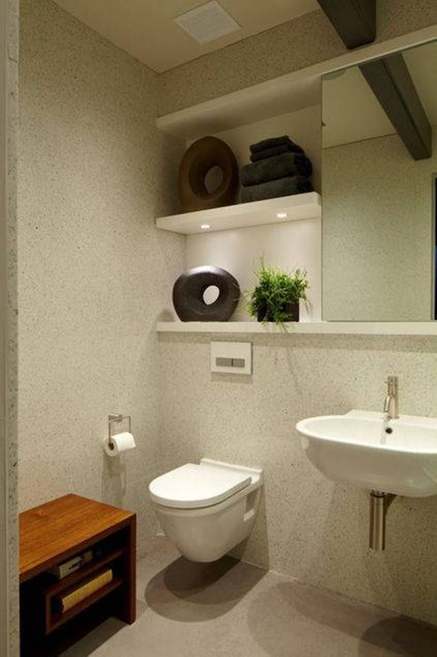 Bathroom , Modern Wall Hung Toilet : Wall Hung Toilet Under Open ...