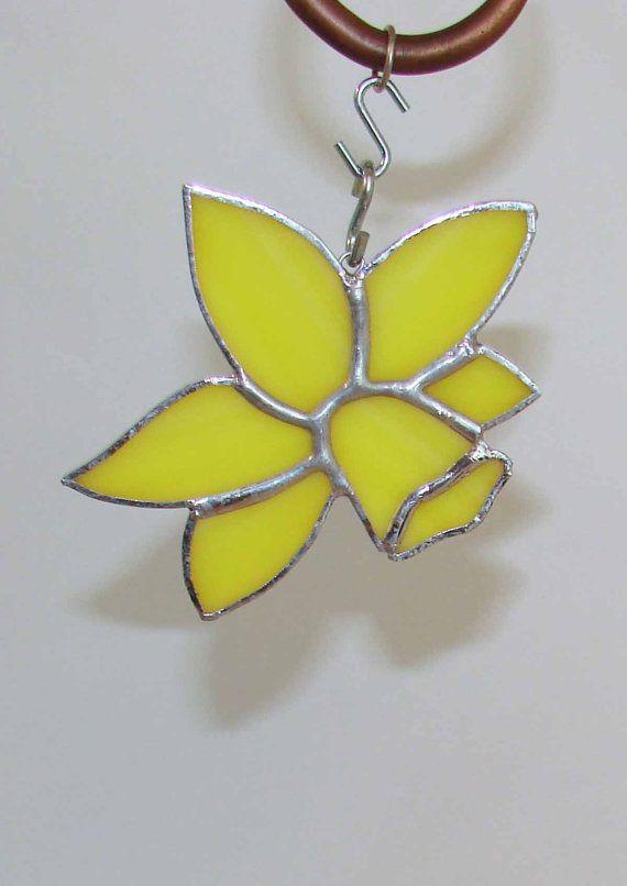 Yellow Daffodil Flower Blossom Handmade by MelaniesGlassArt