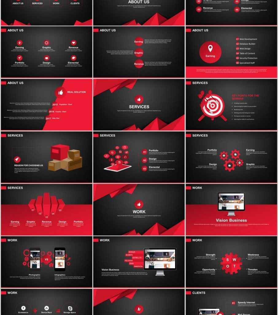 29 Red Black Work Summary Powerpoint Templates Powerpoint Design Templates Powerpoint Templates Powerpoint