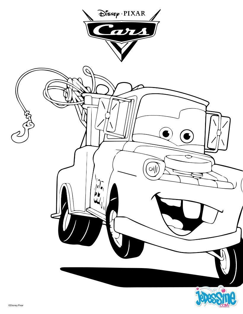 Un joli coloriage sur cars avec martin la dépanneuse un dessin