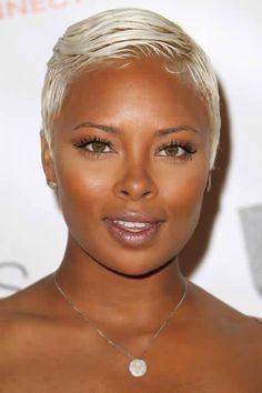 Black Women With Platinum Blonde Hair Short Blonde Hair Short Hair Styles Short Natural Hair Styles